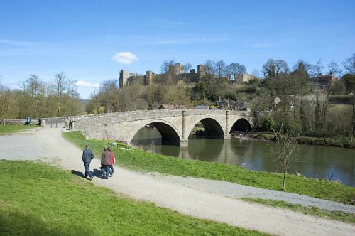 Bridge over the River Teme in gastronomic Ludlow South Shropshire