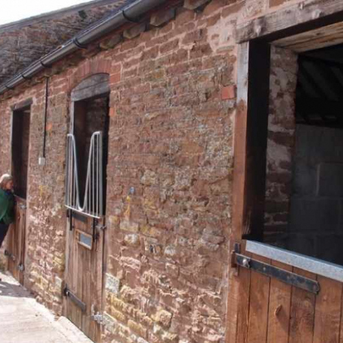 Horse Stables at Upper House Farm Self Catering Accommodation in Craven Arms Shropshire UK