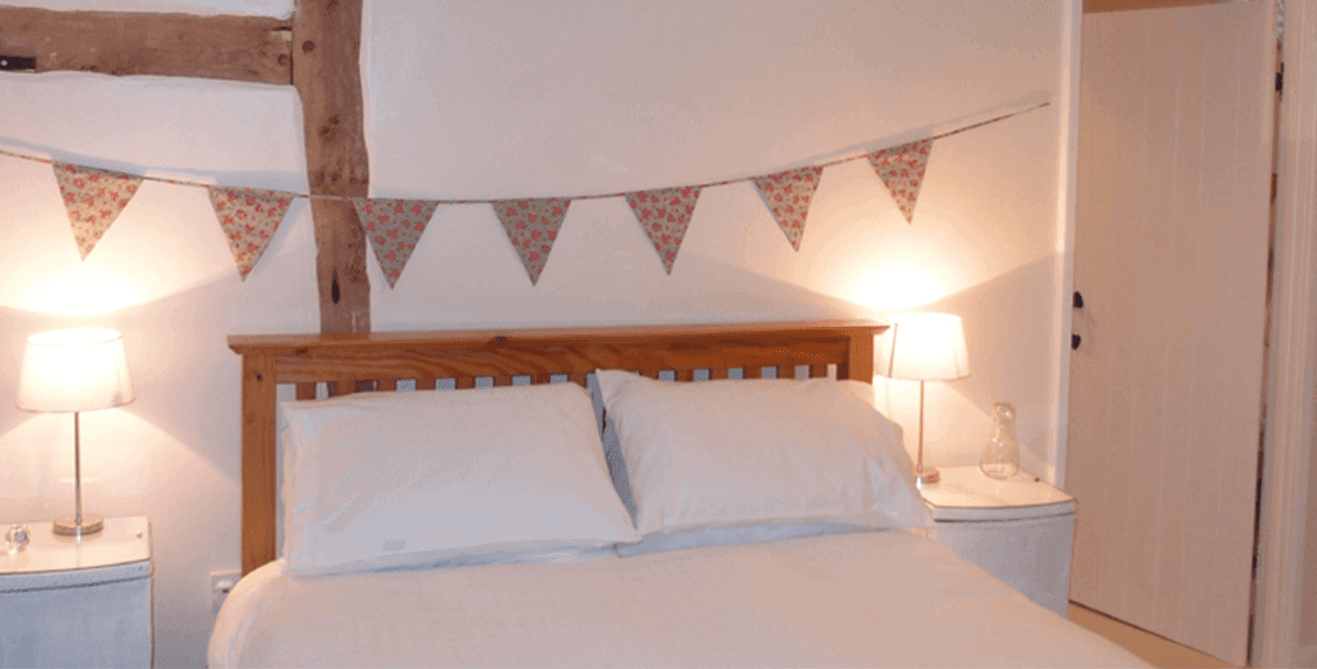 Double Bedroom at Upper Heath Self Catering Farm Cottage in Craven Arms Shropshire, UK